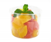 Orange & grapefruit, cut in clean cubes,  with mint - 200 g