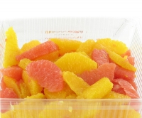 Orange et grapefruit en quartiers propres  - 1 kg