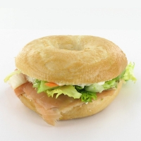 Bagel, smoked salmon, 220 g